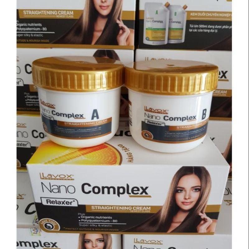Thuốc Duỗi Tóc Lavox Nano Complex 300ml (150ml*2 Hủ) nhập khẩu