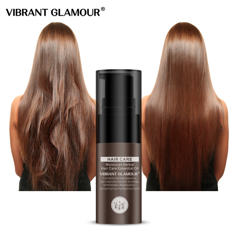 VIBRANT GLAMOUR  Moroccan Hair Essential Oil Hair Growth Liquid Nourish Repair Damaged Dry Hair Care giá rẻ