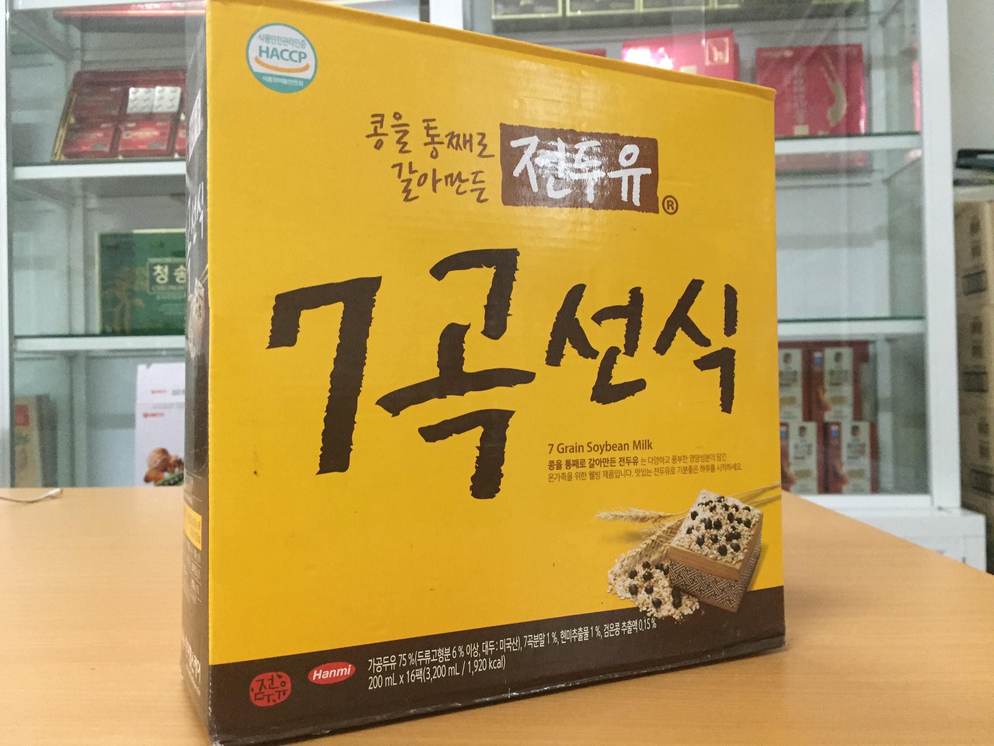 [Hanmi] - Sữa Hạt Hàn Quốc Ngũ Cốc 7 Vị 200ml (xách 16 hộp) - Sữa hạt Hàn Quốc Hanmi