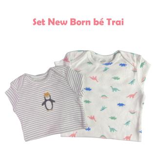 Set 3 bộ jumpsuit, bodysuit Carter s cho bé sơ sinh, bé trai và bé gái dài tay từ 0 - 24 tháng chất liệu cotton đã được xử lý thumbnail
