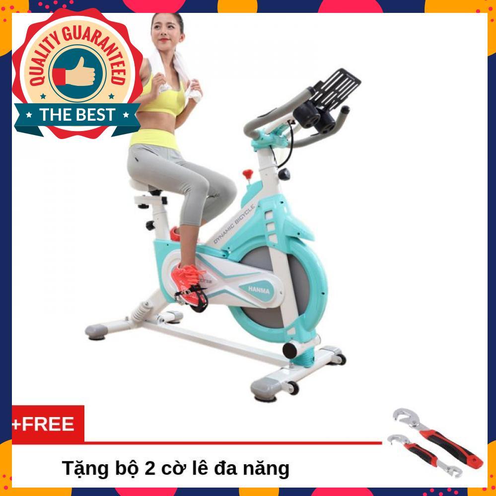Bảng giá Xe đạp tập thể dục cao cấp Air Bike MK127 chất liệu thép chịu lực, sơn tĩnh điện chống gỉ, chịu trọng lượng tối đa 120Kg, màn hình LCD hiển thị các thông số + Tặng bộ 2 cờ lê đa năng