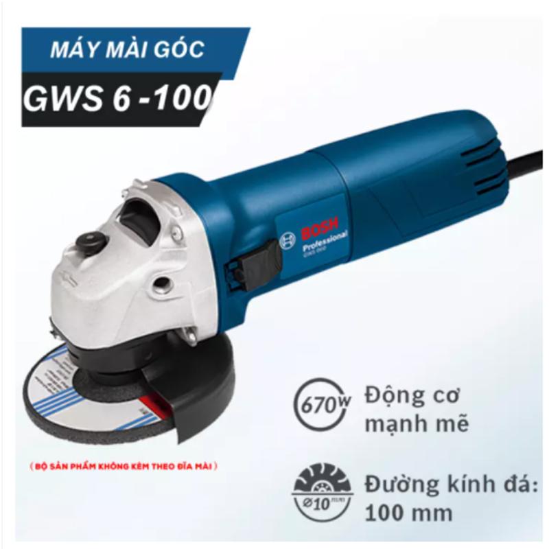 Máy cắt cầm tay Bosh hàng nhập khẩu Malaysia chất lượng cao - máy mài góc GWS 6-100 - cưa - mài - đánh bóng - chà nhám trên mọi bề mặt - lõi đồng 100% siêu bền