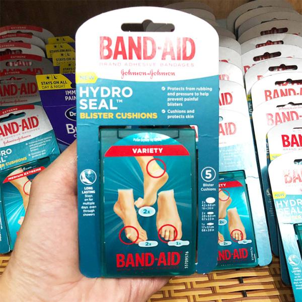 Miếng dán giảm đau ngăn ngừa phồng rộp chân Band-Aid Hydro Seal nhập khẩu