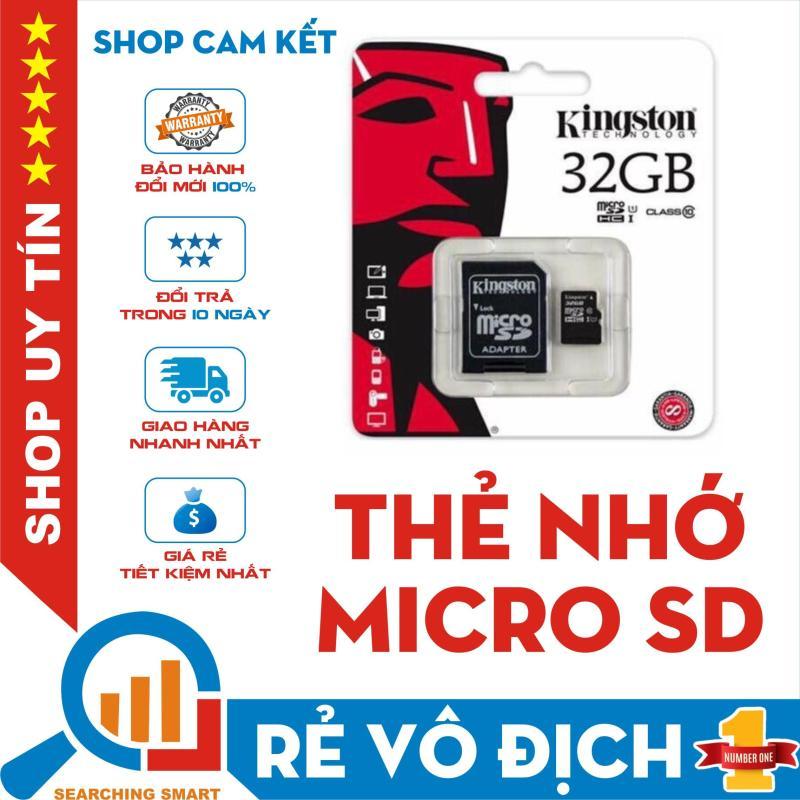 Thẻ nhớ Micro SDHC Kingston 32GB Class 10 - Bảo hành 5 năm