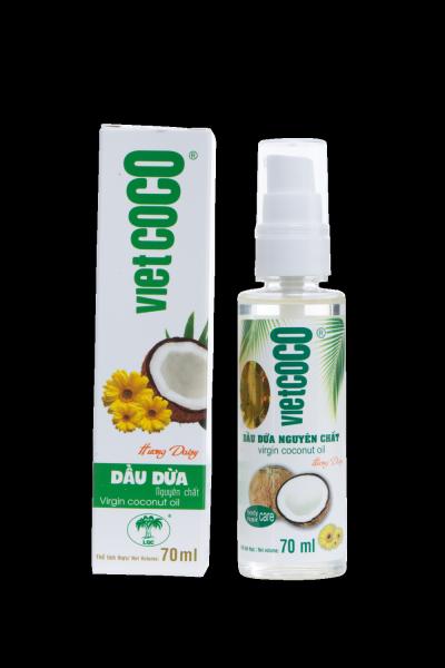 Dầu dừa nguyên chất organic VIETCOCO 70ml - hương daisy giá rẻ