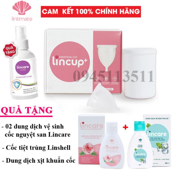 Bộ Cốc nguyệt san Lincup, Lincup+ Chính hãng từ Mỹ bởi Công ty Lintimate giá rẻ