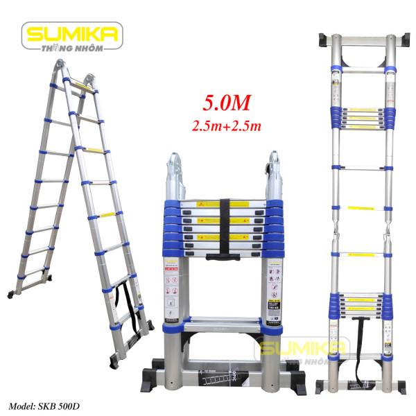 SKB 500D  Thang rút nhôm đôi Sumika SKB 500D (Màu xanh)