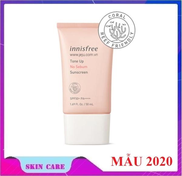 Kem Chống Nắng Kiềm Dầu và Nâng Tông Da Innisfree Tone Up No Sebum Sunscreen SPF50 PA+++ (50ml) tốt nhất