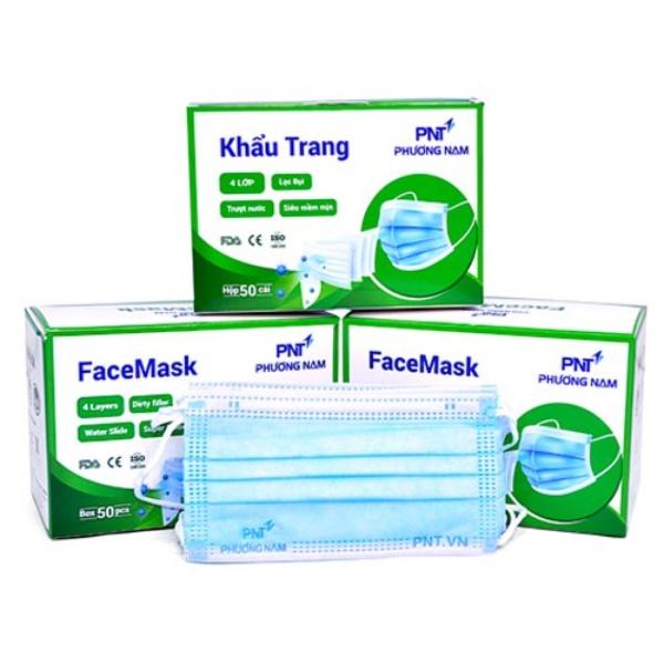 KHẨU TRANG 4 lớp FaceMask kháng khuẩn lọc bụi mịn, chống thấm, thoáng khí- chứng nhận ISO-