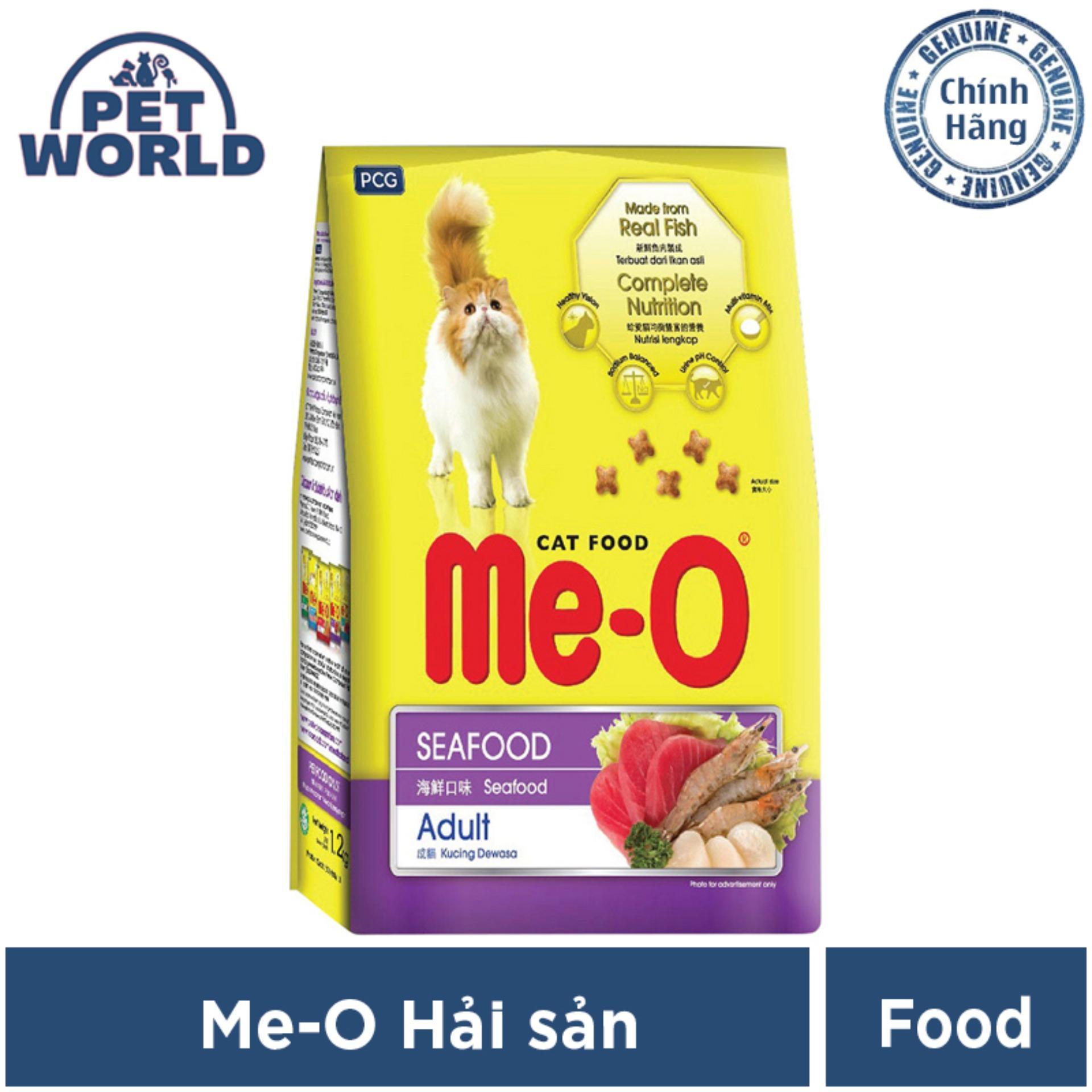 Giá Quá Tốt Để Mua Thức Ăn Dành Cho Mèo Trưởng Thành Me-O Hương Vị Hải Sản - Dạng Túi 0,4 - 1.2kg