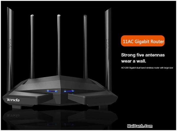 Bảng giá Bộ Phát Wifi Tenda AC11 Gigabit AC1200 anten 6dbi/cpu 1GHz/ram Phiên bản nâng cấp từ ac10 ac7 ac6 ac5 Hàng chính hãng - Hàng nhập khẩu Phong Vũ