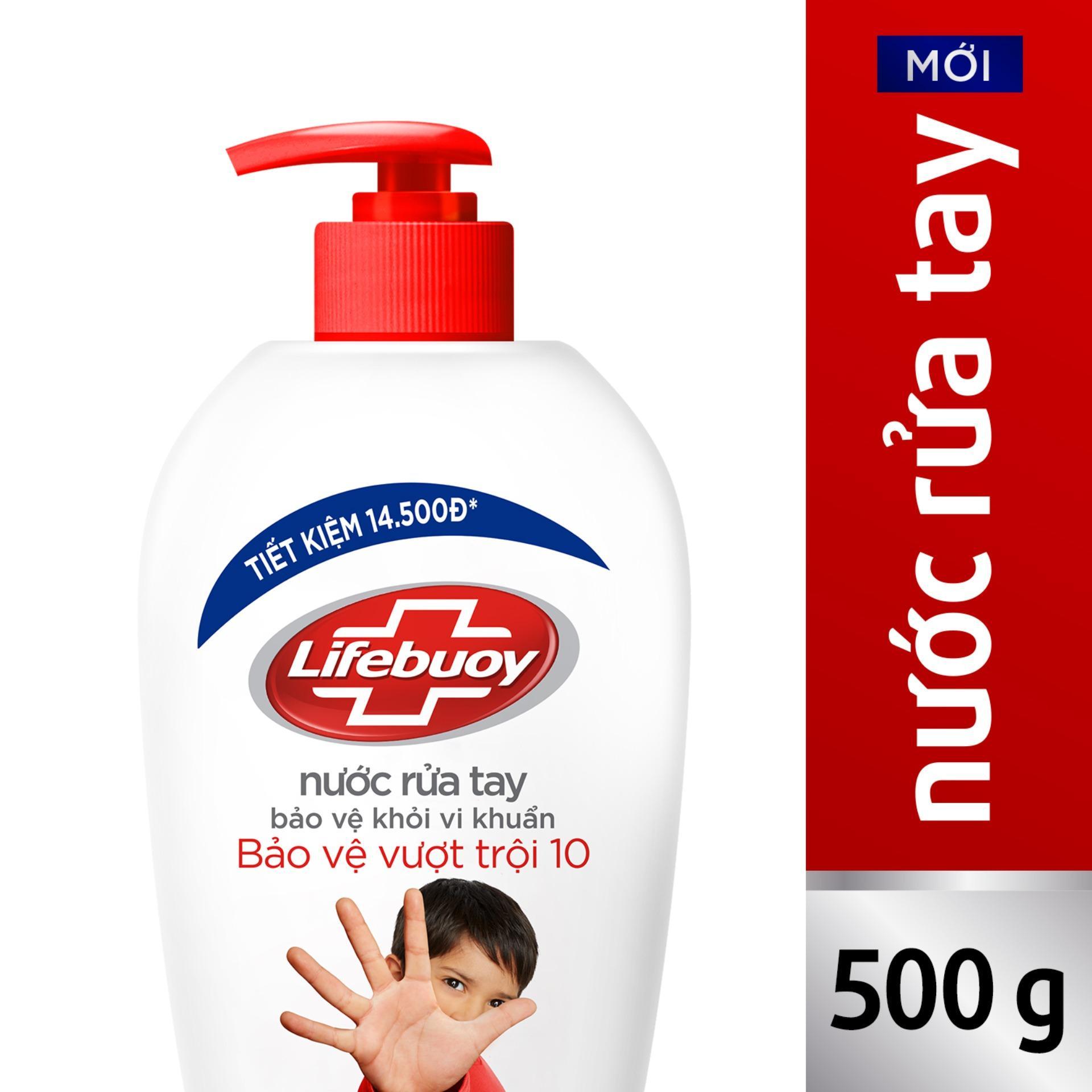 Nước rửa tay Lifebuoy Bảo vệ vượt trội 10 500g
