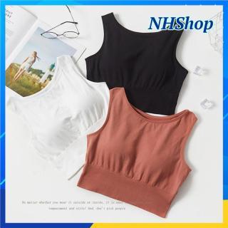 Áo bra tập Gym cotton CAO CẤP ôm dáng THOÁNG MÁT - Mút tháo rời - NHShop thumbnail