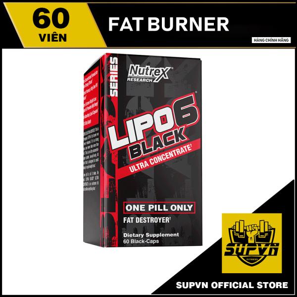Lipo 6 Black Ultra Concentrate 60 viên - Giảm cân, Đốt mỡ, Cắt nét Lipo-6 Nutrex cao cấp