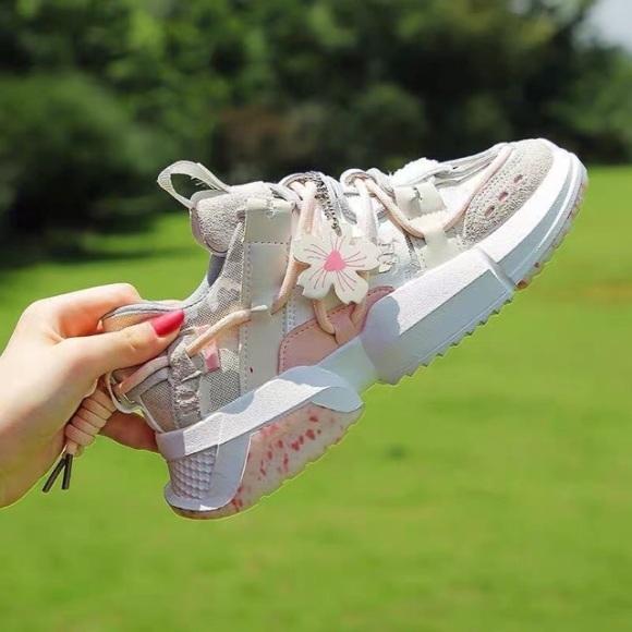 Giày Thể thao nữ Sneaker nữ Hoa anh đào Hot trend 2020, giày nữ đi học, đi làm giá rẻ