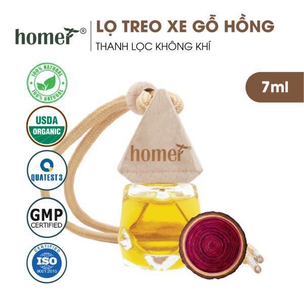 Tinh dầu treo HOMER Gỗ hồng 7ml - Khử mùi, kháng khuẩn trong không khí - Treo tủ, treo xe ô tô, treo phòng