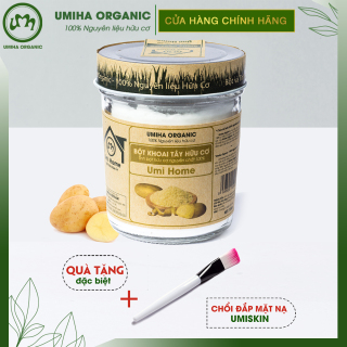 BỘT KHOAI TÂY HỮU CƠ UMIHOME 125g nguyên chất làm đẹp thiên nhiên giúp dưỡng trắng da chống lão hóa và ngăn ngừa thâm nám thumbnail