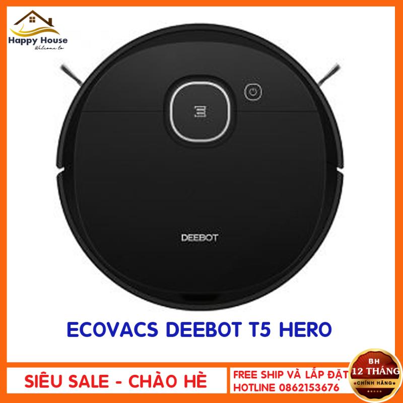 Robot hút bụi lau nhà Ecovacs Deebot T5 Hero hàng CHÍNH HÃNG- Nguyên SEAL 100%