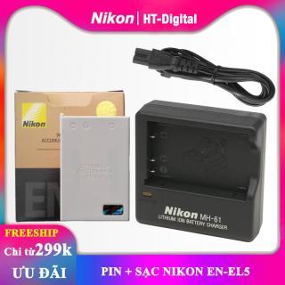 [HCM]Pin + sạc máy ảnh Nikon EN-EL5 thumbnail