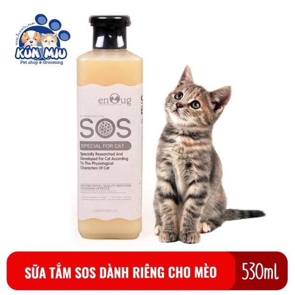 Sữa tắm SOS dành riêng cho mèo chai 530ml màu trắng sữa( HÀNG CHÍNH HÃNG)