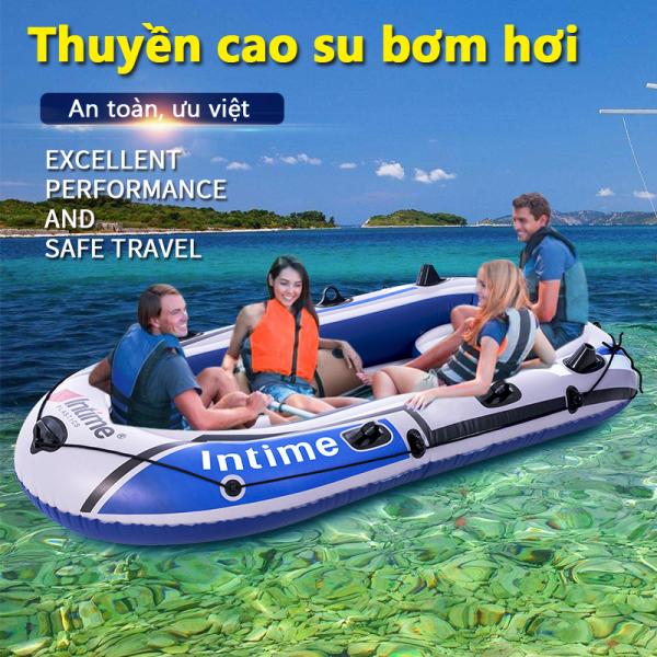 Thuyền hơi thuyền phao xuồng bơm hơi thuyền câu cá INTIME chứa 3người 4 người lớn dày hơn rộng hơn cao cấp chắc chắn thuyền dã ngoại tuyệt vời Tops Market