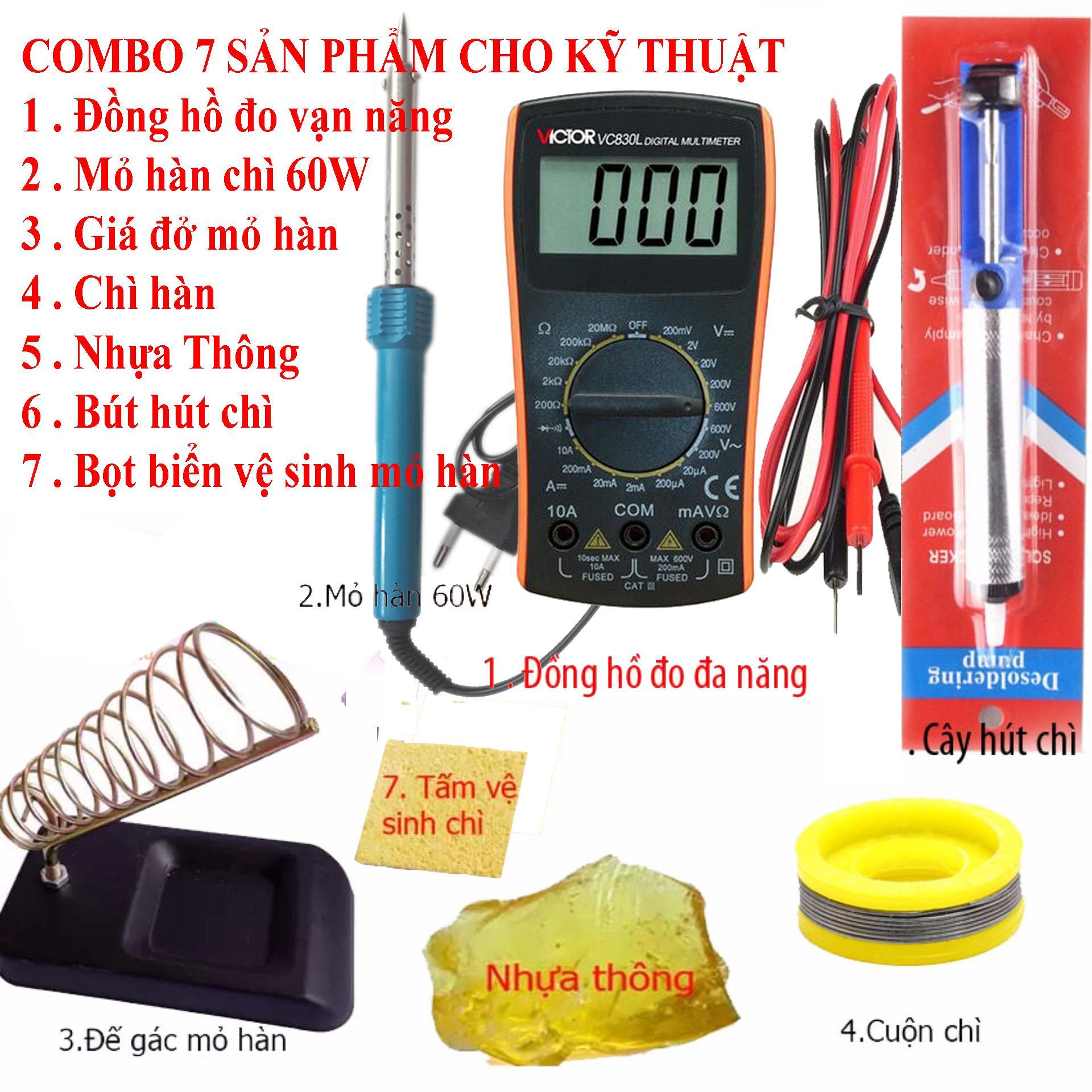 Thiết bị dụng cụ đo điện điện tử Victor VC830L và 6 món kỹ thuật hàn