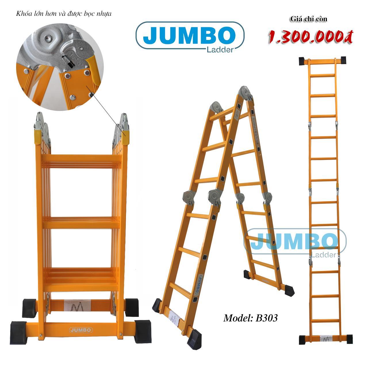 thang nhôm cao cấp chữ M jumbo B303