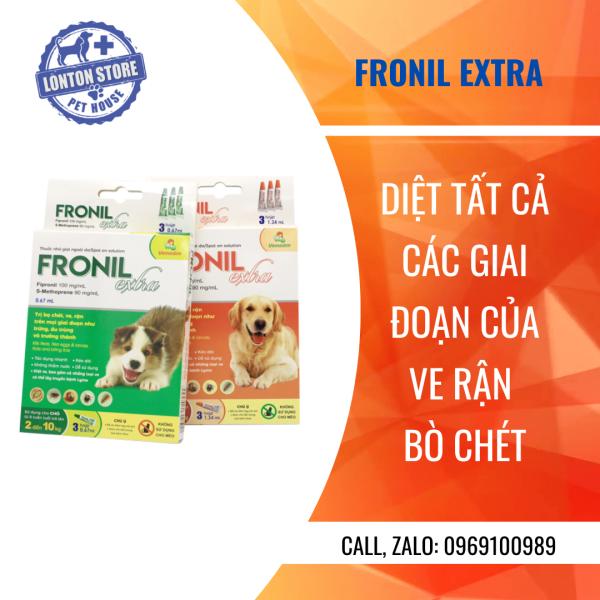 VEMEDIM Fronil Extra - Diệt Ve, Rận, Bọ Chét Cho Chó Mèo (Hộp 3 Tuýp) - Lonton Store