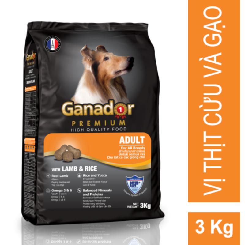 Thức ăn cho chó trưởng thành Ganador Lamb & Rice 3kg