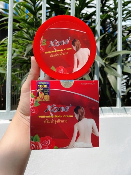 Kem dưỡng trắng da toàn thân body Kone Thái Lan mẫu đỏ - siêu trắng da dưỡng ẩm và làm mịn da