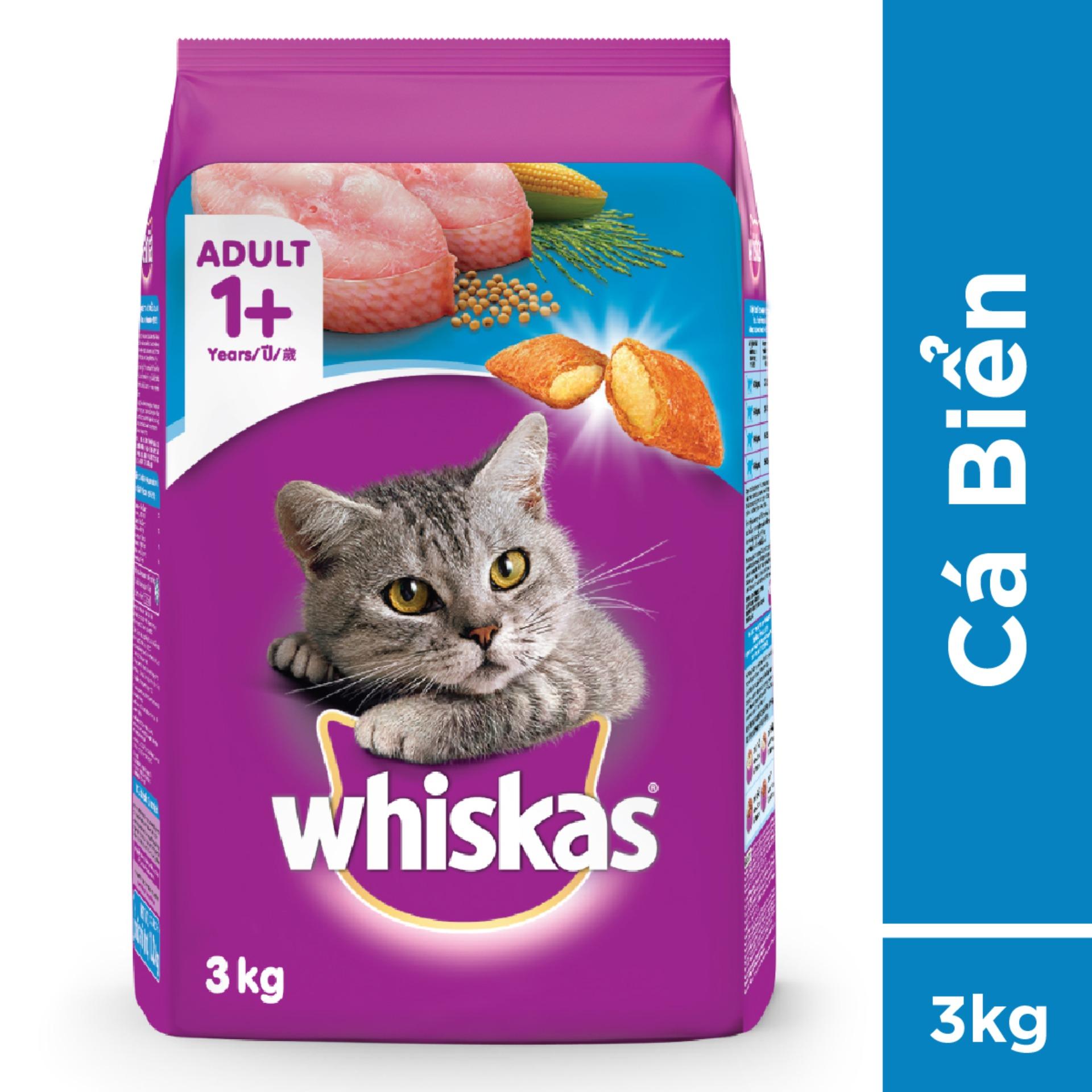 Offer Ưu Đãi Thức ăn Mèo Whiskas Vị Cá Biển Túi 3kg
