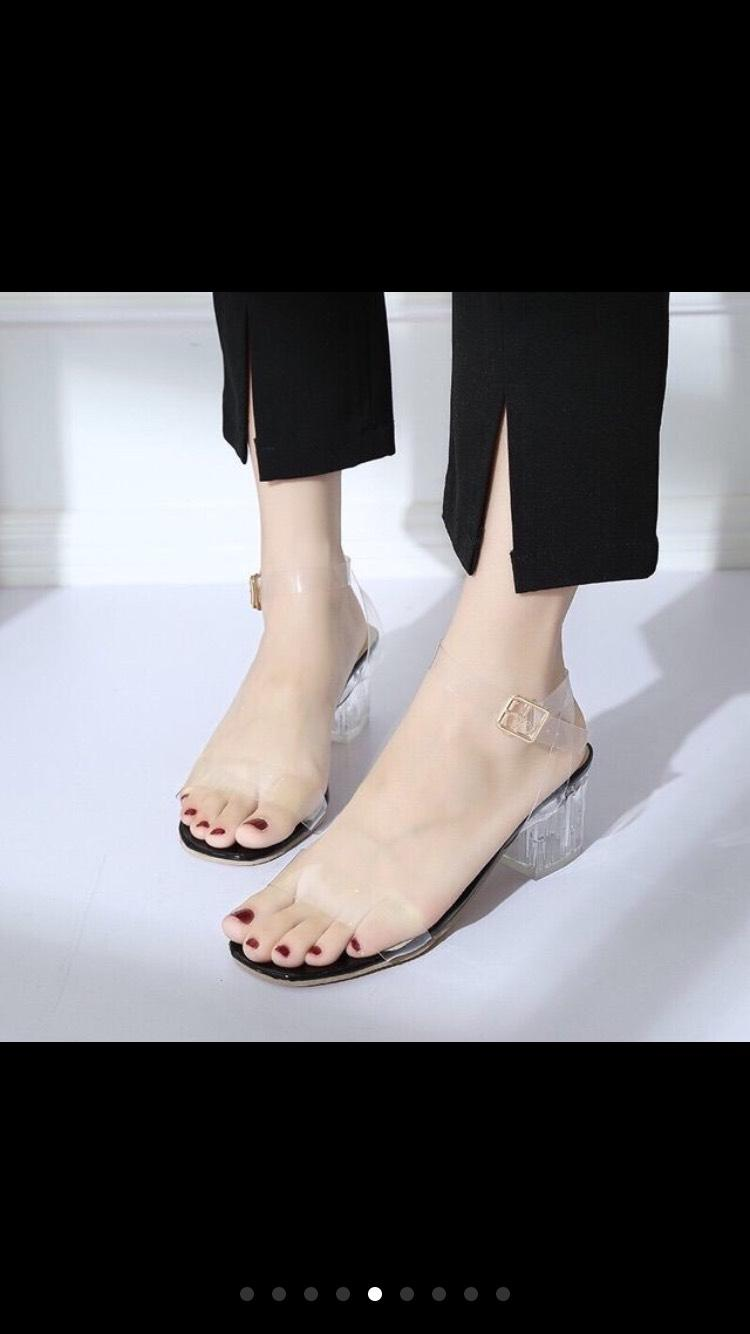 Giày Cao Gót 5 Phân Quai Trong Quấn LT Cùng Khuyến Mại Sốc