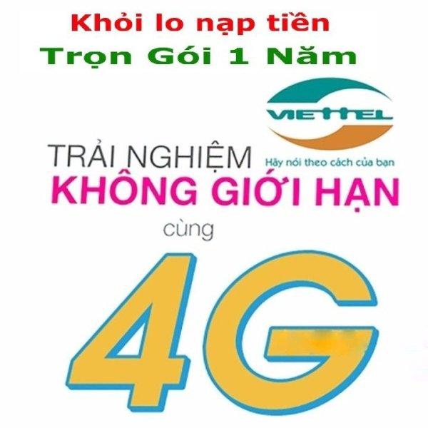 Sim 4G Viettel D500 Trọn Gói 1 Năm, Data 4G Tốc Độ Cao 60Gb/12 Tháng, Không Phí Duy Trì