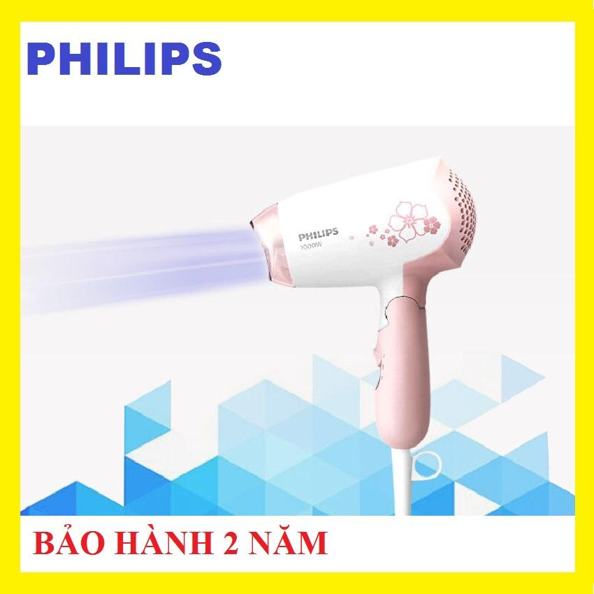 Máy sấy tóc philips HP8108, 1000W, Màu trắng hồng, 2 chế độ linh hoạt