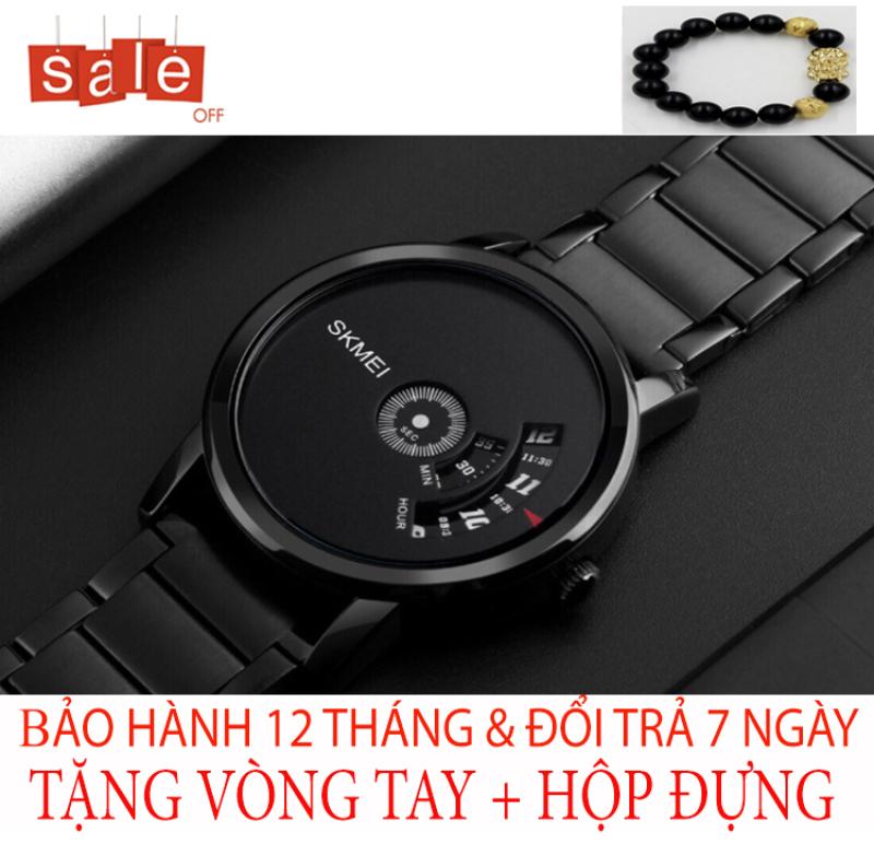 Đồng hồ nam SKMEI 1206 M7 [TẶNG VÒNG TAY] quai thép đúc không gỉ [Liên quan: dây da, dây lưới, thông minh, chống nước, điện tử, quai thép, quai da, thời trang, dây kim loại, đeo tay, độc chất, đẹp]