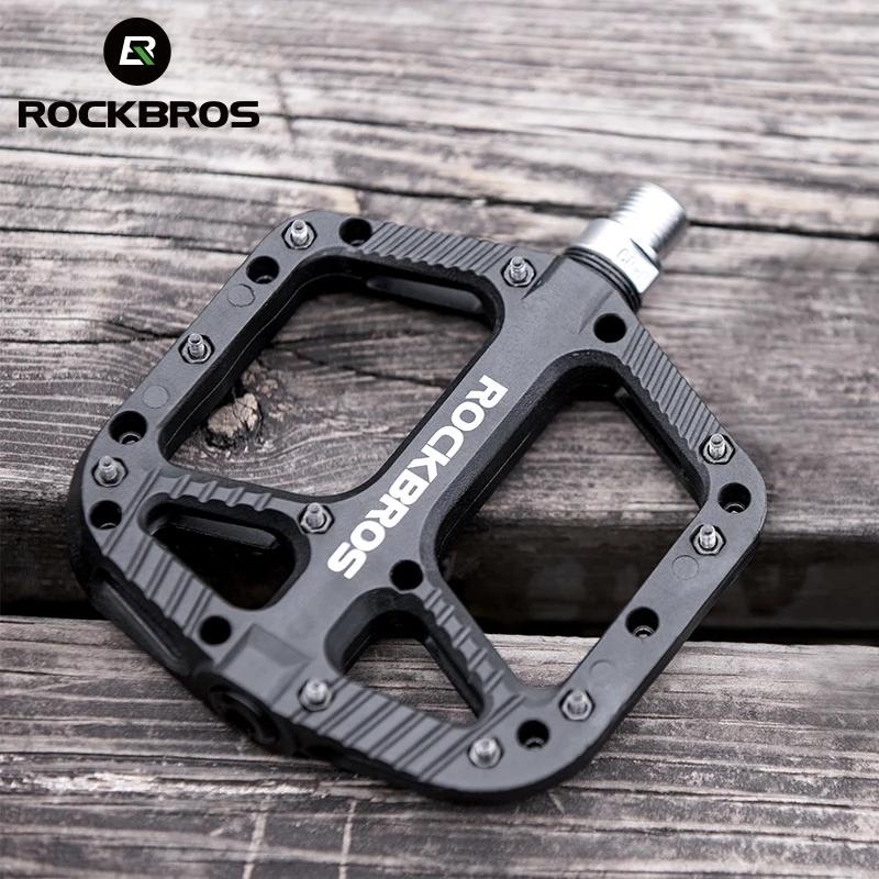 Phân phối ROCKBROS Bàn đạp xe đạp Đường MTB Rộng và nhẹ Vòng bi kín Nylon chống trượt Xe đạp Bàn đạp thể thao Phụ kiện xe đạp thể thao
