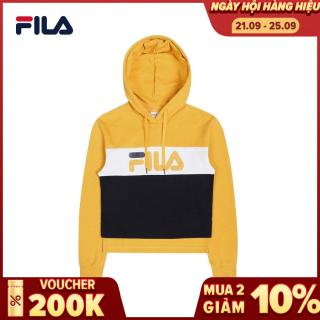 FILA Áo khoác hoodie tay dài có nón nữ Color Block FS2POC1151F thumbnail