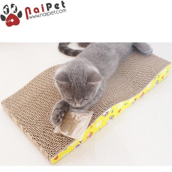 Đồ Chơi Bàn Cào Móng Sóng Bằng Carton Cho Mèo  BCM002