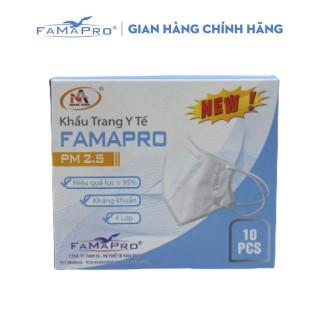 [HCM]Khẩu trang y tế 4 lớp kháng khuẩn Famapro PM2.5 màu trắng (10 CÁI HỘP) thumbnail