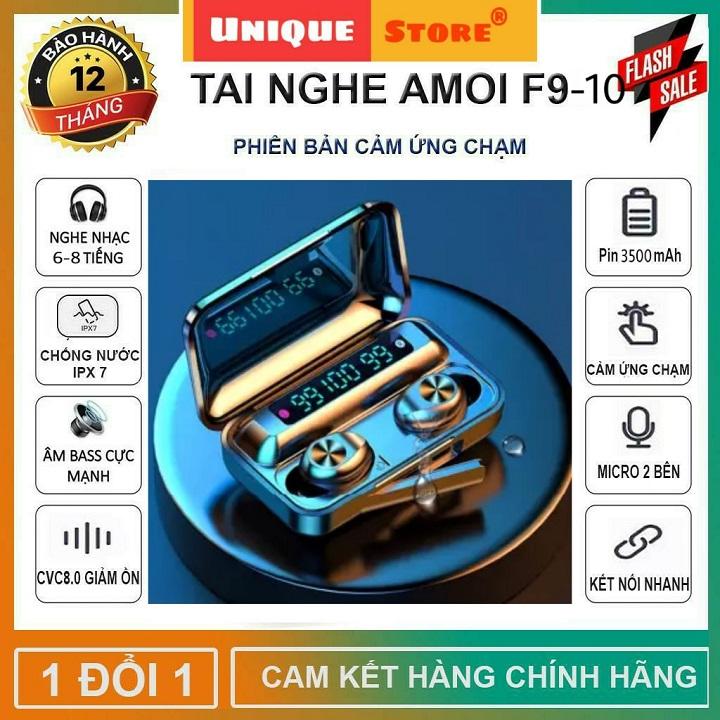 Tai nghe bluetooth AMOI f9-10 Phiên Bản Pro Nâng Cấp Chip f9-5.0 màn hình LED hiển thị dung lượng pin - Tai nghe bluetooth không dây nhét tai - Tai Nghe Bluetooth Không Dây Hay Hơn i11, i12s, Tai nghe buetooth, tai nghe bluetooth khong day