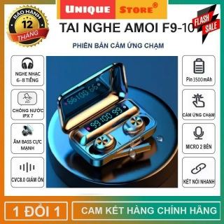 Tai nghe bluetooth AMOI f9-10 bản nâng cấp đỉnh cao hỗ trợ mọi dòng máy có đế sạc dự phòng, mic đàm thoại - Tai nghe không dây nhét tai Amoi f9-10 - Tai nghe bluetooth mini, tai nghe bluetooth khong day, tai nghe buetooth hay hơn i12 thumbnail