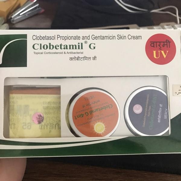 Bộ giảm nám, tàn nhang clobetamil g 4 món Thái Lan (Hộp) giá rẻ