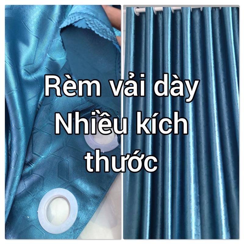 VẢI DÀY-Rèm vải đơn sắc in chìm họa tiết đẹp, mẫu mới