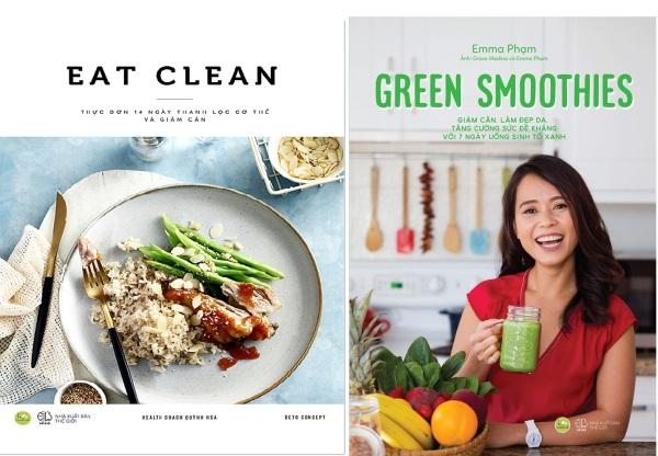 nguyetlinhbook - Combo 2 cuốn: Eat clean thực đơn 14 ngày thanh lọc cơ thể và giảm cân + Green smoothies giảm cân làm đẹp da tăng cường sức đề kháng với 7 ngày uống sinh tố xanh