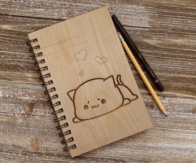 Mua Sổ Tay cute bìa gỗ cao cấp