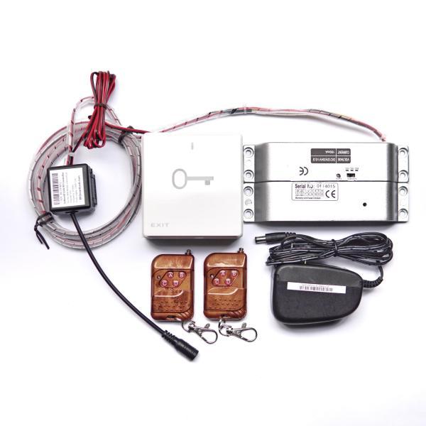 Khóa chốt rơi - Chốt khóa cửa điện từ gắn cửa gỗ nhôm nhựa BK Smart Lock BK-L01B12 thường mở, 12V độ trễ 0s 3s 6s