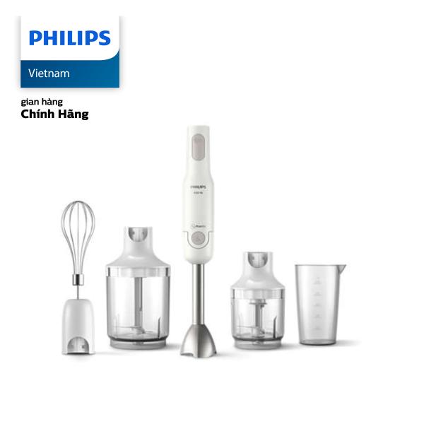 Máy xay cầm tay Philips HR2537/00 ProMix 650W (Trắng) - Hàng phân phối chính hãng - Dung tích cối XL