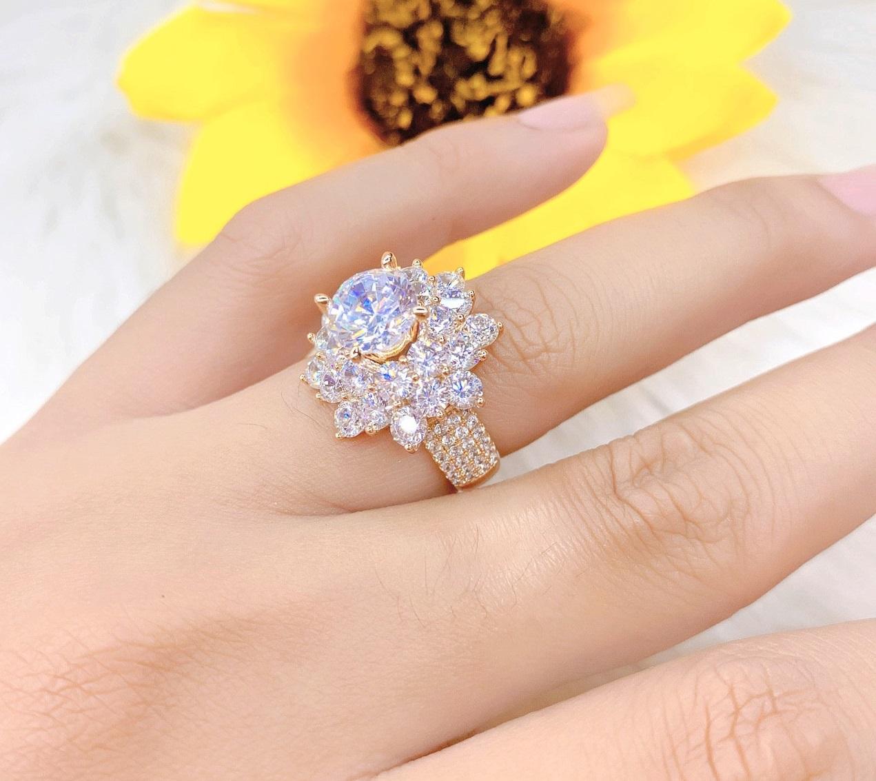 [ Bảo hành lên đến 3 tháng ] Nhẫn Nữ  Mạ Vàng or Bạch Kim Đính Xoàn 0451403 - Tubi Cony - Đổi Trả Trong Vòng 07 Ngày - Tặng Kèm Hộp Trang Sức- nhẫn nữ đẹp, nhẫn nữ thời trang
