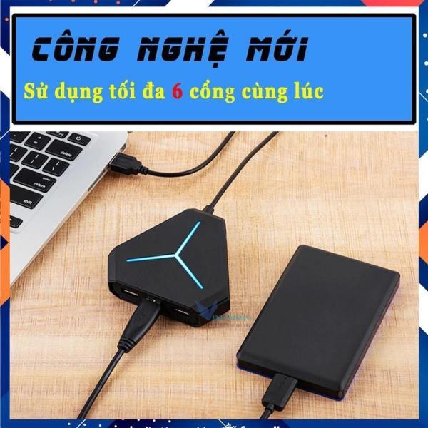 Bảng giá Bộ Chia USB 6 Cổng Dài 1m, USB Hub 2.0 Tiện Dụng Hình Lục Giác Có Đèn LED Báo Hiệu Phong Vũ