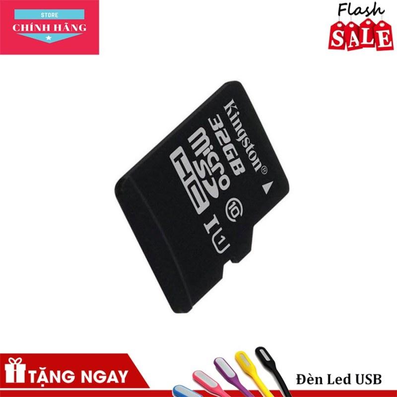 Thẻ nhớ micro SDHC Kingston 32GB class 10 kèm Adapter - Bảo Hành 3 Năm